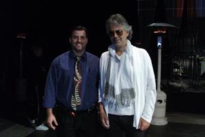 Tobias Hamilton with Italian tenor Andrea Bocelli.