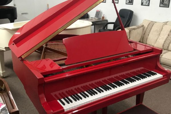 Candy Apple Red Pearl River GP-148 Baby Grand Piano